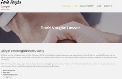 David Vaughn Lawyer Website & Seo Client
