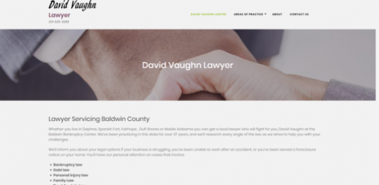 David Vaughn Lawyer Website & Seo Client