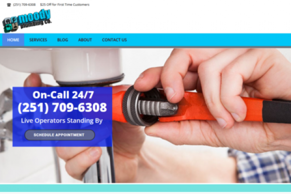Moody Plumbing Co. Website & SEO Client