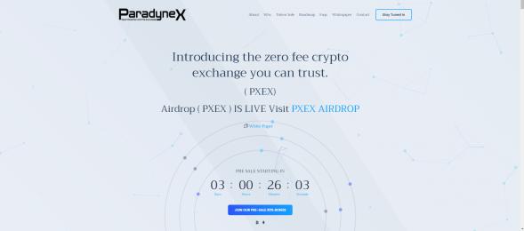 ParadyneX, Inc Website Screenshot